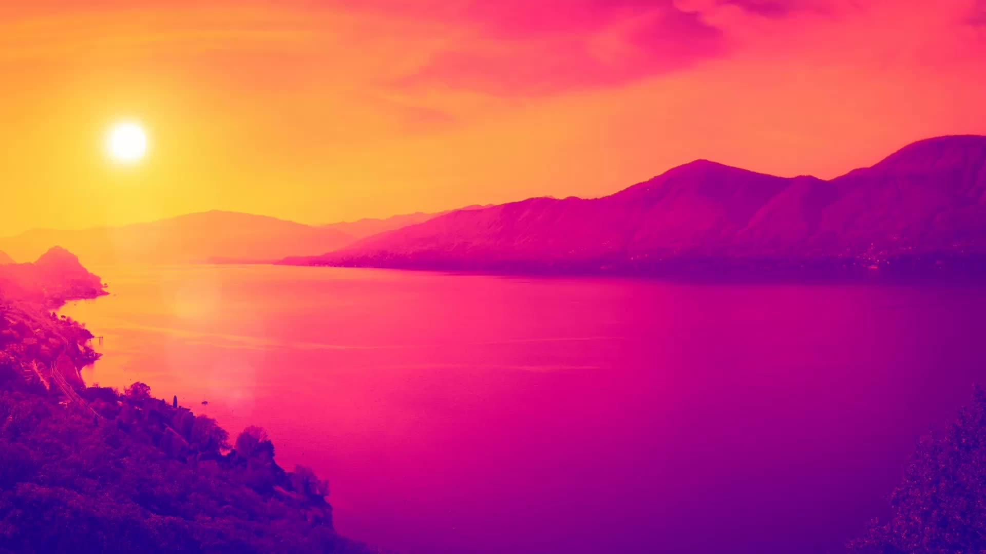 唯美浪漫中国风山水视频素材