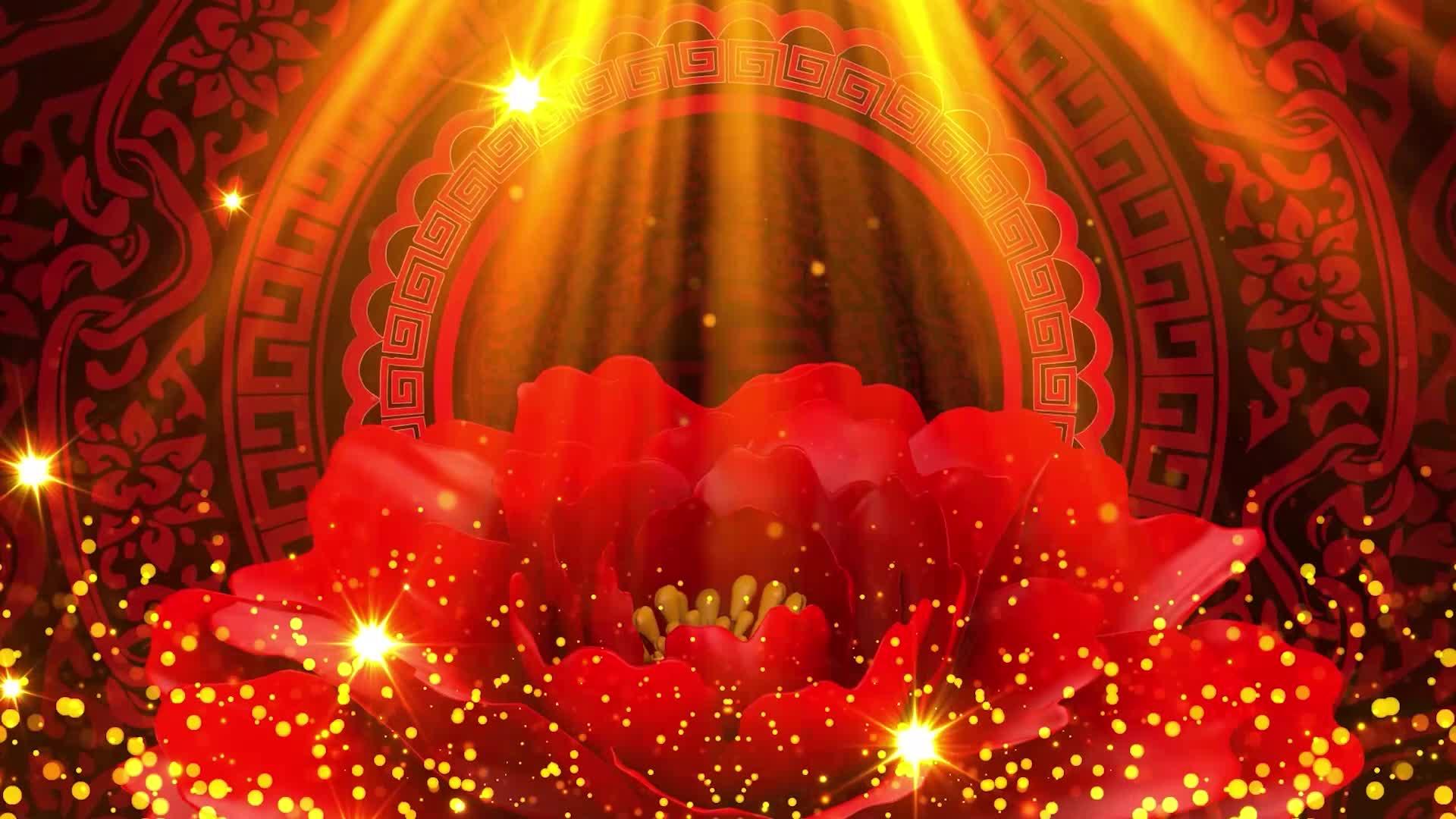 歌曲好运来led配乐视频好运来大屏视频背景喜庆中国红新年快乐年会欢快红色歌曲背景