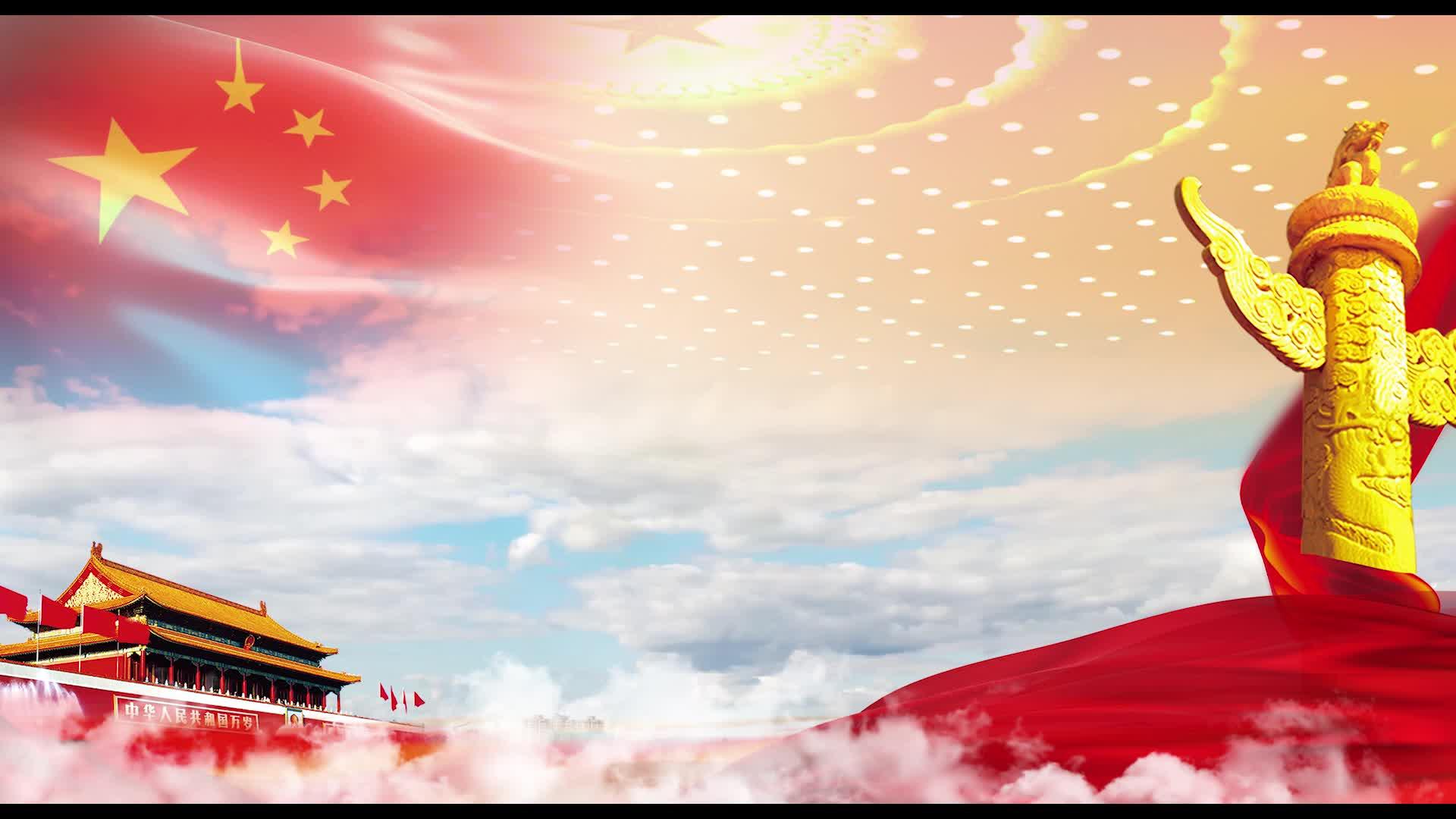 红色党政led视频背景素材